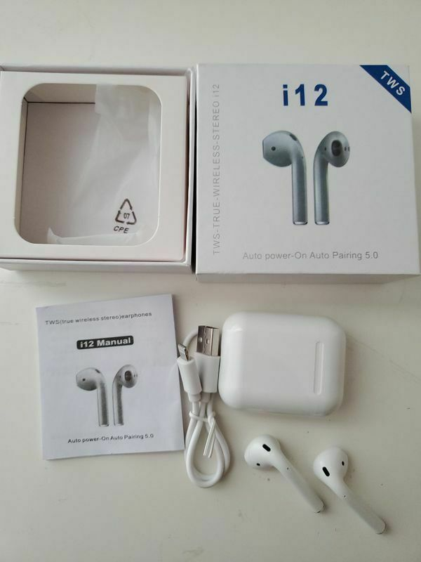 i12 TWS Bluetooth 5.0 Earphones Wireless Headphones Earbuds For iPhone and Android
