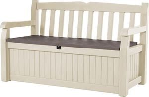 Beige Brown 70 Gallon Storage Bench Deck Box Outdoor Use for Sale in Henderson, NV