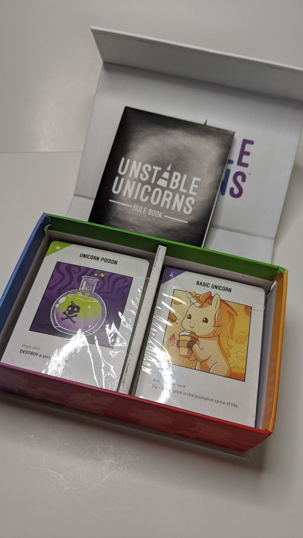Unstable Unicorns BRAND NEW board game kids target family card battle cards trivia gift