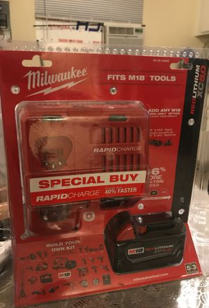Milwaukee battery and charger for Sale in Los Angeles, CA