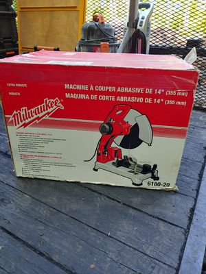 """Milwaukee 14"""" Abrasive Cut Off Chop Saw 15 Amp - 4.0 Max HP Motor 6177-20 for Sale in Gambrills, MD"""