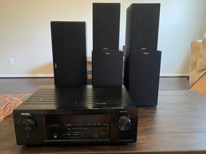 Klipsch Surround Speakers and Denon Receiver for Sale in Humble, TX