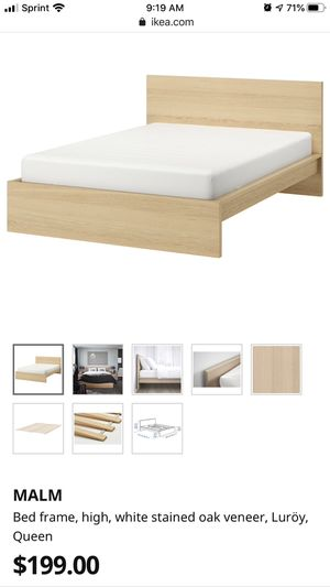 Malm IKEA bed frame - Queen for Sale in Portland, OR
