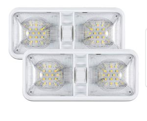 12V Led RV Ceiling Dome Light RV Interior Lighting for Trailer Camper with Switch, White(Pack of 2) for Sale in Fullerton, CA