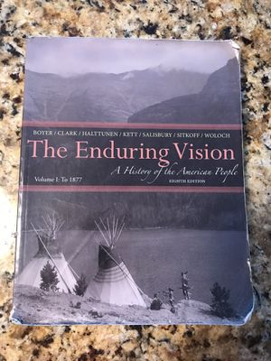 The Enduring Vision: A History of the American People. College Book for Sale in Pleasant View, TN
