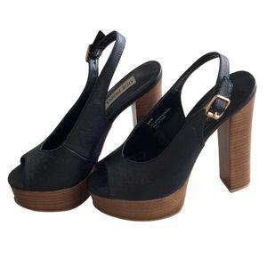 Steve Madden | Jonnah Peep Toe Wooden Heels- SZ 8 for Sale in Las Vegas, NV