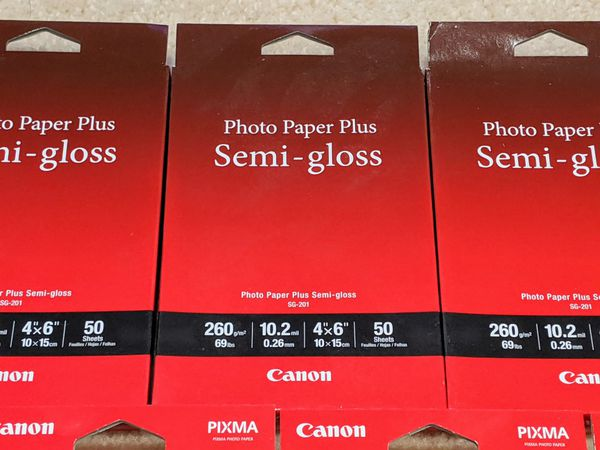 9 Packs of Canon Photo Paper