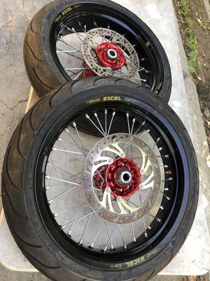 Takasago excel super moto f&r wheels for Sale in Los Angeles, CA