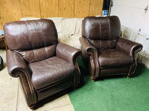 Free Delivery Ethan Allen Leather Recliner Chairs - Very Comfortable for Sale in Fremont, CA