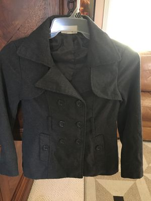 Teenager/woman's grey wool short style jacket coat size small for Sale in Fresno, CA