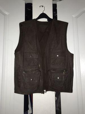 Vintage Leather Camper Vest for Sale in Miami, FL