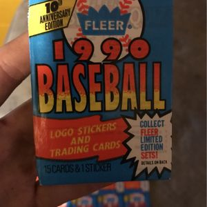 1990 Fleer Baseball Cards 10th Anniversary Edition for Sale in Moundsville, WV