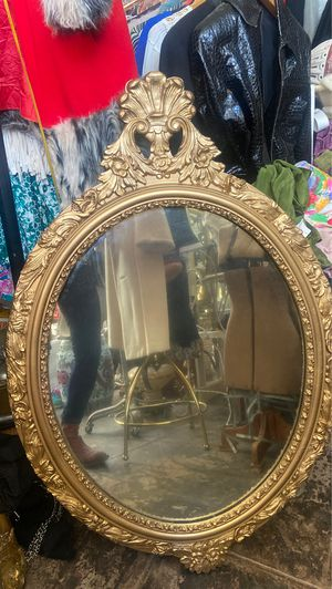 Antique gold wood framed mirror 40x27 for Sale in Los Angeles, CA