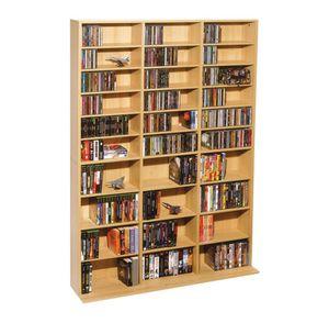Atlantic Oskar 1,080-cd Multimedia Shelf Storage Cabinet Brown Finish A2-37 for Sale in St. Louis, MO