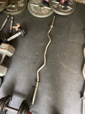 Standard curl bar for Sale in Dearborn Heights, MI
