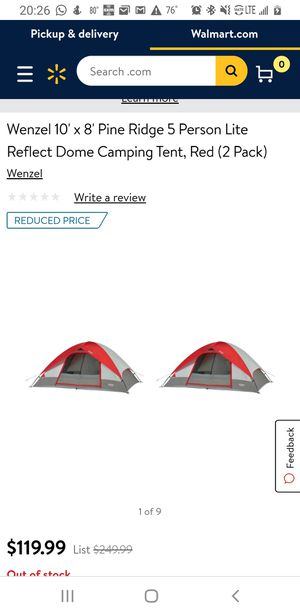 Wenzel 5 person tent. Great for camping. for Sale in Kissimmee, FL