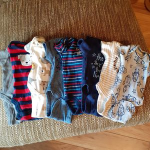 Boy premie onesies there are 8 total for Sale in Deltona, FL