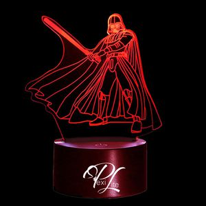 3D Illusion Night Light Darth Vader in Action 7 Color Change for Sale in Las Vegas, NV