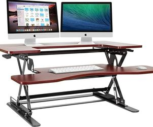 "HALTER: SOLID CHERRY PRE-ASSEMBLED/HEIGHT ADJUSTABLE (SIT/STAND) 36"" DESK >>SEE PICS FOR ALL SPECS<< 🔥 (BRAND NEW/NVR USED/FACTORY DIRECT) **AVAIL** for Sale in Philadelphia,  PA"