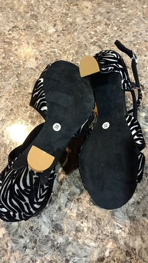 Zebra print latin dance shoes size 38 for Sale in Chicago, IL