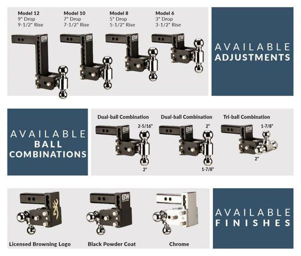 """BW Hitches - New Trailer Hitches - New 2"""", 2 1/2"""" and 3"""" hitches for trucks - New trailer hitch - We carry all trailer parts"""