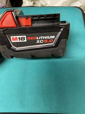 New Milwaukee 5.0 xc battery for Sale in Tacoma, WA