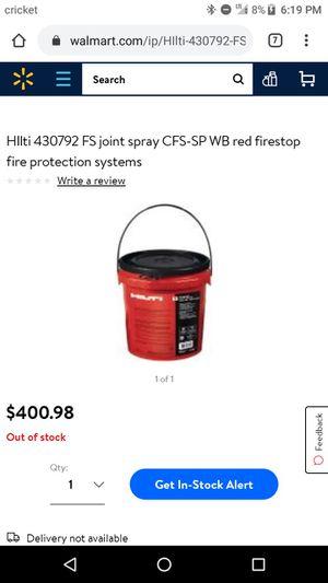 Hilti Firestop Joint Spray for Sale in Fresno, CA