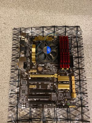 ASUS Z87-A Motherboard w/ I7-4770K and 32 GB G-Skill RAM for Sale in Carrollton, TX