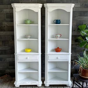 Pair Of Corner Bookcases for Sale in Raleigh, NC