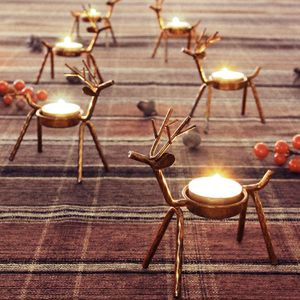 6 Pack Metal Reindeer Tea Light Candle Holders, Holiday Decor, Table Decor for Sale in Corona, CA