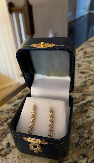 Diamond earrings. Brand new for Sale in Hanover, MD