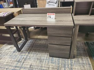Computer Desk, Distressed Grey and Black for Sale in Westminster, CA