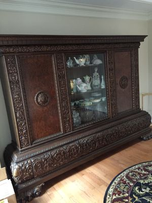 Beautiful Carved Antique China Cabinet for Sale in Murfreesboro, TN