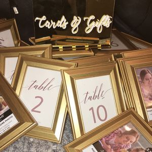 Wedding Table Number Frames for Sale in Oakland, CA