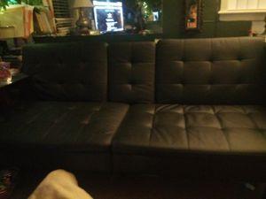 Black leather futon for Sale in West Monroe, LA
