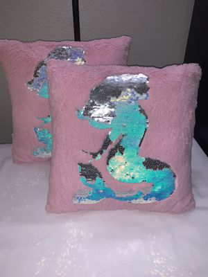 Two Beautiful Little Mermaid Pillows for Sale in Downey, CA