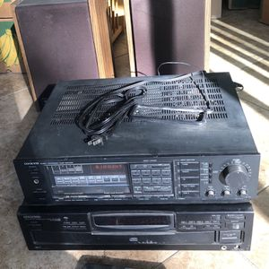 Onkyo Stereo Receiver, Kenwood (5) Cd Player And 2 JBL Speakers for Sale in Placentia, CA