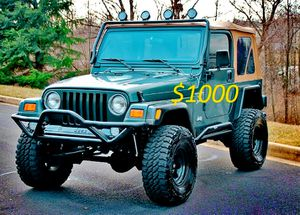 🚙🔥 2000 Jeep Wrangler'TJ LIFTED SUPER CLEAN $1,000 🚙🔥 for Sale in Henderson, NV