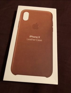 iPhone X leather case New for Sale in Sugar Hill, GA