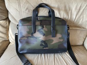 Men's Coach genuine leather Camo briefcase for Sale in Royal City, WA