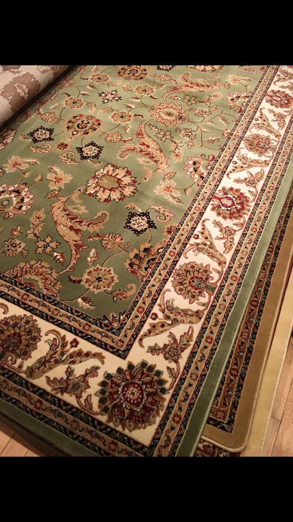 Brand new Area rug size 8x11 nice green carpet Persian style rugs