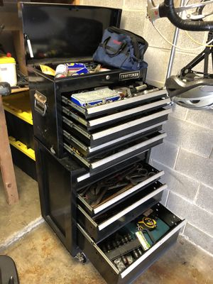 Craftsman toolbox and chest with LOTS of tools! for Sale in New Lenox, IL