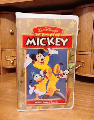 Disney's Spirit of Mickey VHS VCR Movie for Sale in Modesto, CA