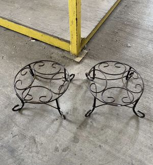 Set Of Iron Flower Pot Plant Stands for Sale in Austin, TX
