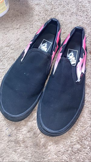 Vans Pink Flame Slip Ons for Sale in Elk Grove, CA