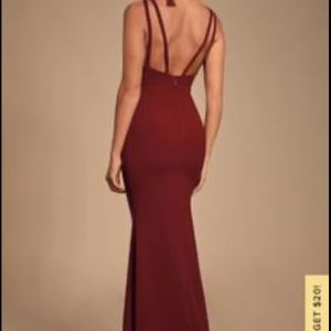 Burgundy Long Dress for Sale in Cuyahoga Heights, OH