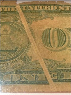 Amazingly Rare Significant Error Gutter Fold Old 1935E $1 Dollar Silver Certificate- Exceedingly Valuable Bill- Full Letters Separating! for Sale in Fairfax, VA