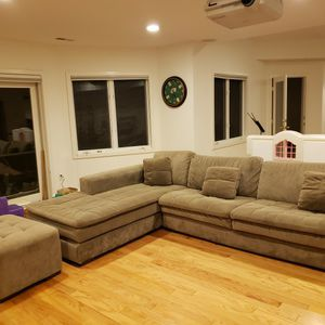Micro Fiber Sectional Sofa w/ Ottoman for Sale in Bethesda, MD