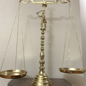 Large Brass Balance Scale of Justice for Sale in Vancouver, WA