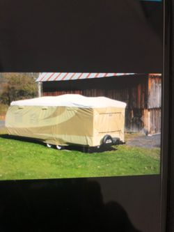 Tan white Tyvak travel trailer RV COVER for Sale in Waco,  TX